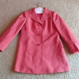 Ann Taylor Mid-Length Spring Trench Coat - Coral